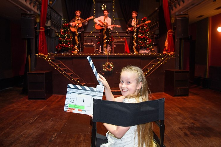 Dotty, Winner Of Our Lights Camera Action Competition On Set