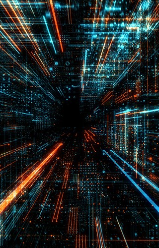 Data Transfer And Future Technology Cyber Security Concept Background Abstract Hi Speed Digital Internet